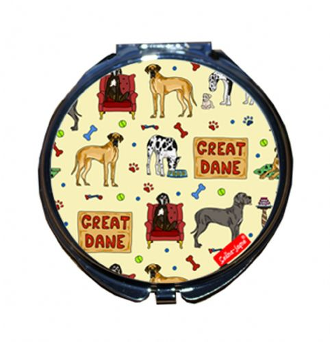 Selina-Jayne Great Dane Dog Limited Edition Designer Compact Mirror